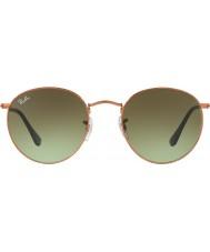 RayBan Rb3447 53 runde metall skinnende medium bronse 9002a6 solbriller