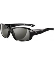 Cebe S-kysse skinnende sorte solbriller