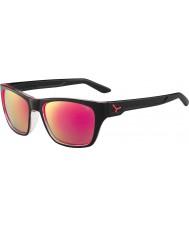Cebe Hacker skinnende svart 1500 grå flash speil rosa solbriller