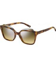 Marc Jacobs Ladies marc 106-s N36 gg Havana sølv speil solbriller