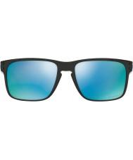 Oakley Oo9102-c1 Holbrook polert svart - Prizm dyp h2o polariserte solbriller