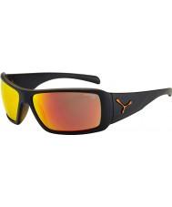 Cebe Utopy matt sort oransje solbriller