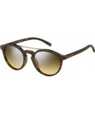 Marc Jacobs Marc 107-s n9p gg matt Havana sølv speil solbriller
