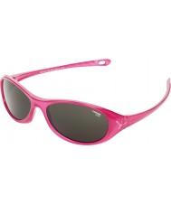 Cebe Gecko (alder 5-7) skinnende rosa gjennomskinne 2000 grå solbriller