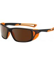 Cebe Proguide matt sort oransje 2000 brun flash speil solbriller