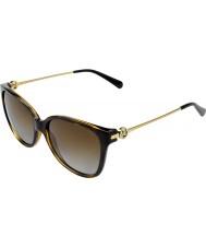 Michael Kors Mk6006 57 Marrakesh mørke skilpaddeskall 3006t5 polariserte solbriller