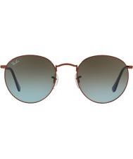 RayBan Rb3447 53 runde metall skinnende mørk bronse 900396 solbriller