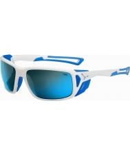 Cebe Proguide skinnende hvit blå 4000 grå mineral blå solbriller