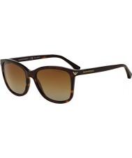 Emporio Armani Ea4060 56 essensielle fritid Havana 5026t5 polariserte solbriller