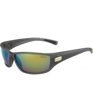 Bolle Python matt røyk grønne polariserte brune smaragd solbriller