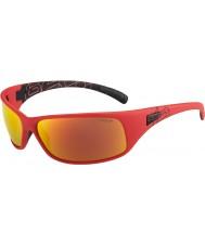 Bolle Rekyl matt rød polarisert TNS brann solbriller