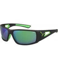 Cebe Session svart grønn 1500 grå speil grønne solbriller