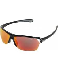 Cebe Wild skinnende svart flerlags solbriller