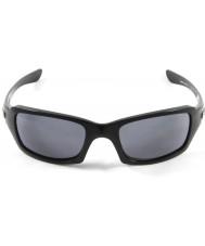 Oakley Oo9238-04 femmere squared polert svart - grå solbriller