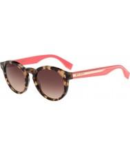 Fendi Fargeblokk ff 0085-s HK3 d8 Havana rosa solbriller