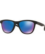 Oakley Oo9320-11 moonlighter matt svart - safir iridium polarisert solbriller