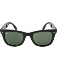 RayBan Rb4105 50 folding wayfarer sort 601 solbriller