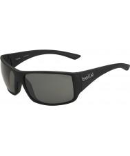 Bolle Tigersnake skinnende svart polariserte TNS solbriller