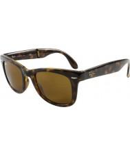 RayBan Rb4105 50 folding wayfarer lys skilpaddeskall 710 solbriller