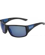 Bolle Tigersnake skinnende svart matt blå polarisert offshore blå solbriller