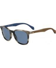 HUGO BOSS Mens sjefen 0843-s IWF 9a horn brune blå solbriller