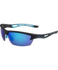 Bolle Bolt matt svart blå solbriller