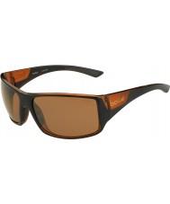 Bolle Tigersnake skinnende sort matt brun polarisert sandstein pistol solbriller