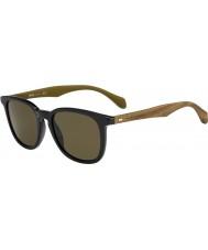 HUGO BOSS Mens sjefen 0843-s RBG ec sorte brune solbriller