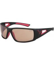 Cebe Session matt svart rød variochrom PERFO solbriller