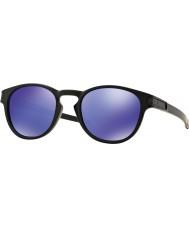 Oakley Oo9265-06 låsen matt sort - violet iridium solbriller