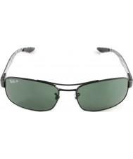 RayBan Rb8316 62 tech karbonfiber svart grønn 002-N5 polariserte solbriller