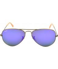 RayBan RB3025 58 aviator store metall børstet bronse 167-1m solbriller