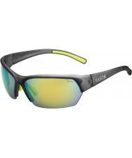 Bolle Ransom satin krystall grå polarisert brune smaragd solbriller