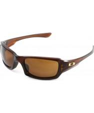 Oakley Oo9238-07 femmere squared polert rootbeer - mørk bronse solbriller