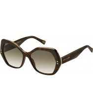Marc Jacobs Ladies marc 117-s zy1 cc Havana solbriller