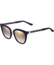 Jimmy Choo Ladies Fabry-s Kca nh blå glitrende gull speil solbriller