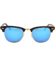 RayBan Rb3016 clubmaster sand skildpadde - blå speil