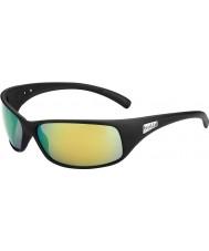 Bolle Rekyl matt sort polariserte brune smaragd solbriller