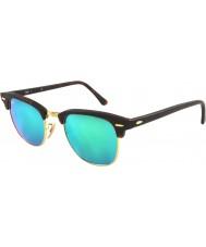 RayBan Rb3016 51 clubmaster sand skilpaddeskall-gull 114519 grønne speil solbriller