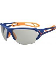 Cebe S-track stor matt blå oransje variochrom PERFO solbriller