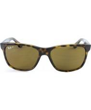 RayBan Rb4181 57 highstreet lys skilpaddeskall 710-83 polariserte solbriller