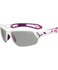 Cebe S-track mellom hvite lilla variochrom PERFO solbriller