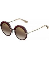 Jimmy Choo Ladies Gotha-S 65L QH burgunder gull speil solbriller