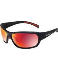 Bolle Bounty matt svart polarisert TNS brann solbriller
