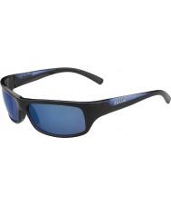Bolle Fierce skinnende svart blå polarisert offshore blå solbriller