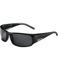 Bolle Kongen skinnende svart polarisert TNS solbriller
