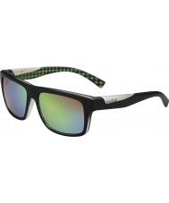 Bolle Clint matt svart kalk polarisert brune smaragd solbriller