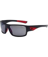 Cebe Whisper matt svart rød 1500 grå polarisert flash speil solbriller