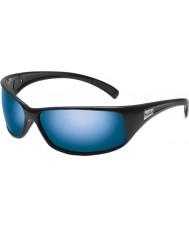 Bolle Rekyl skinnende svart polarisert offshore blå solbriller