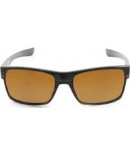 Oakley Oo9189-03 Two-Face polert svart - mørk bronse solbriller